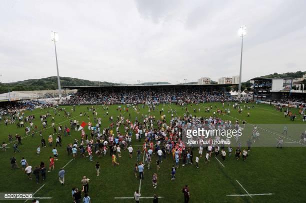 Fin du match Bourgoin / Biarritz 36e journee Top 14