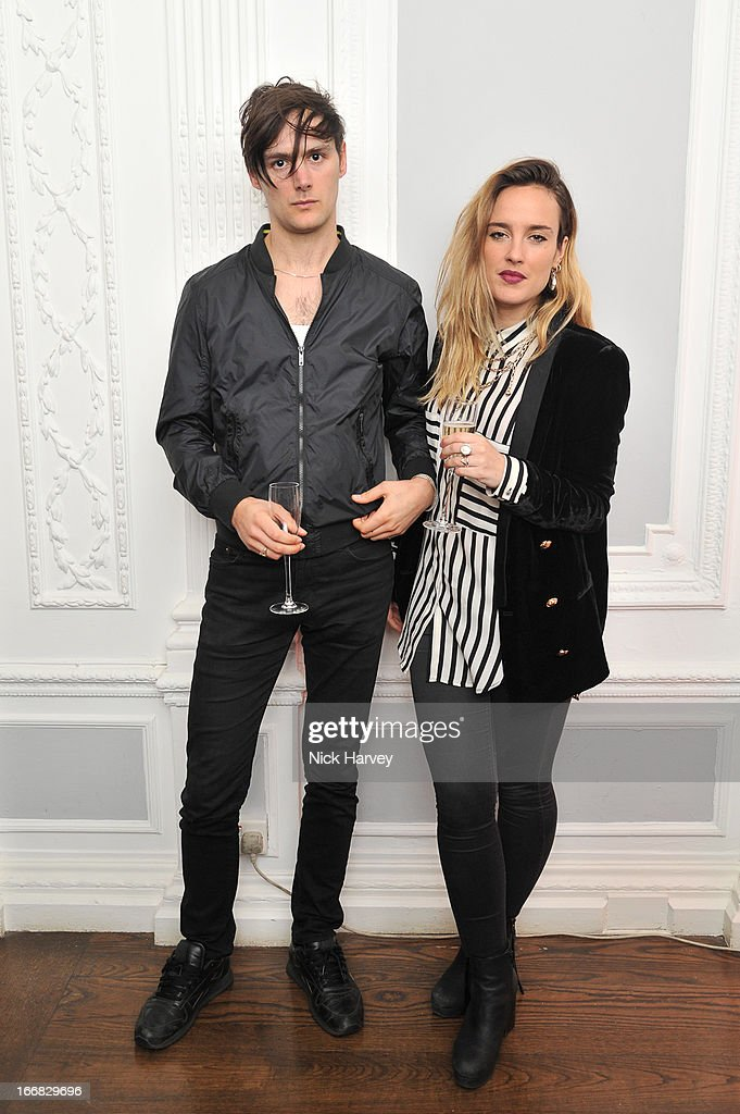 Fin Vine and Jess Mills attend as Molton Brown and Giles Deacon launch a collaboration at the ICA on April 17, 2013 in London, England.