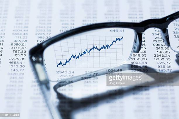 Finacial graph seen through eyeglasses
