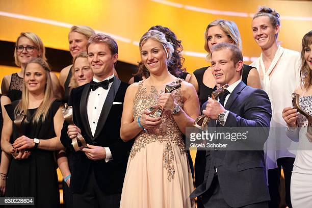 Final applause Nico Rosberg Formula One F1 driver and World Champion 2016 Fabian Hambuechen Olympic gold medalist champion Tennis Champion Angelique...
