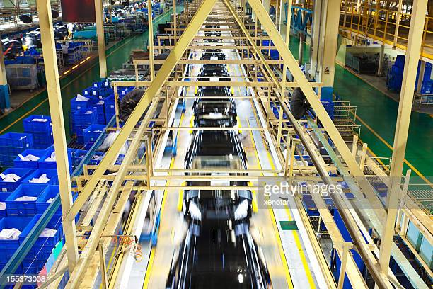 Final assembly line of car factory