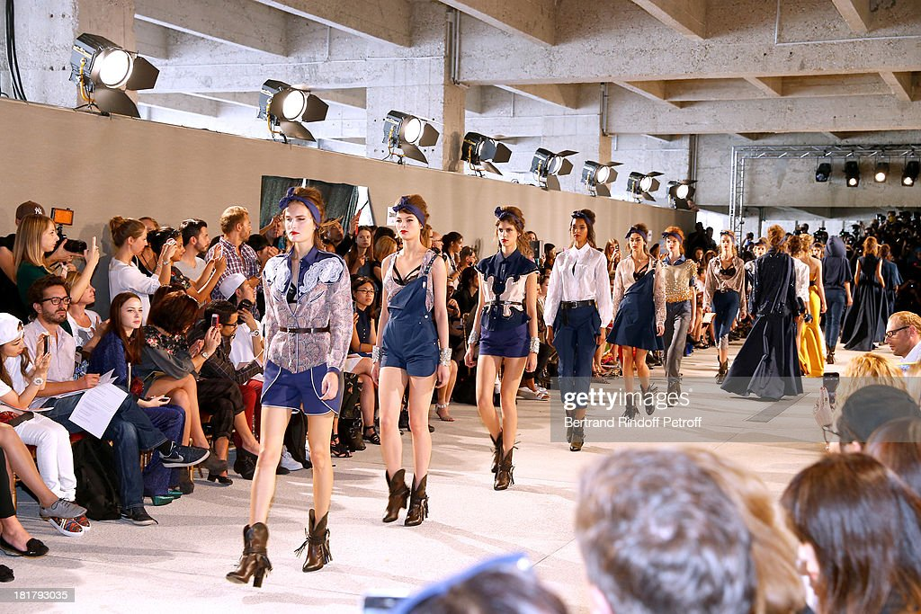 Final of Alexis Mabille show as part of the Paris Fashion Week Womenswear Spring/Summer 2014 at Docks en Seine on September 25, 2013 in Paris, France.
