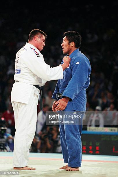Final of the men's 100kg between France's David Douillet and Shinichi Shinohara of Japan at the 2000 Olympics Douillet won gold