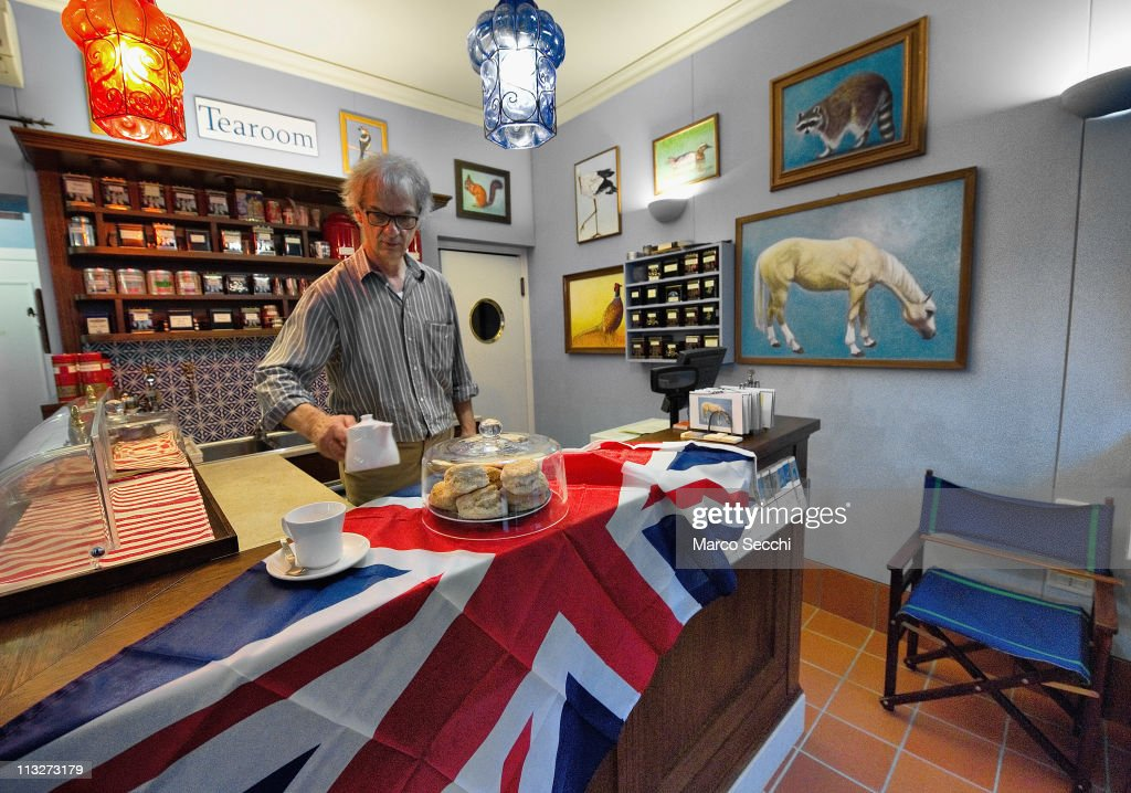 Final touches are made at a local tearoom on Rio Marin to celebrate the royal wedding on April 29, 2011 in Venice, Italy. The wedding of Britain's Prince William and Kate Middleton took place at Westminster Abbey in London.