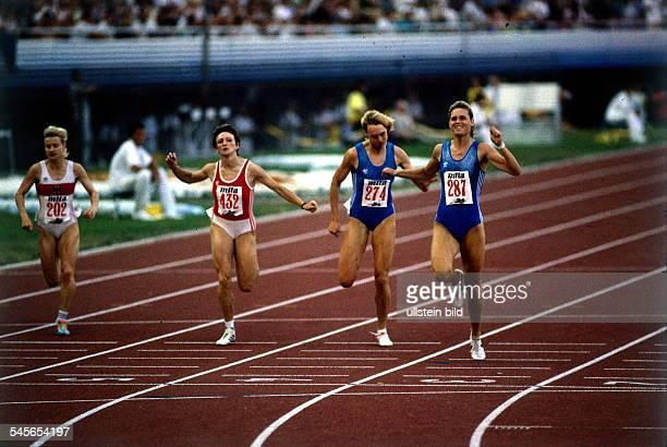 Finale 200m Frauen Zieleinlaufvl Silke Knoll Malschugina Heike Drechsler KatrinKrabbe