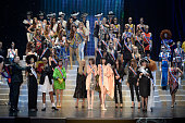 Finale at the Jean Paul Gaultier Spring Summer 2015 fashion show during Paris Fashion Week on September 27 2014 in Paris France
