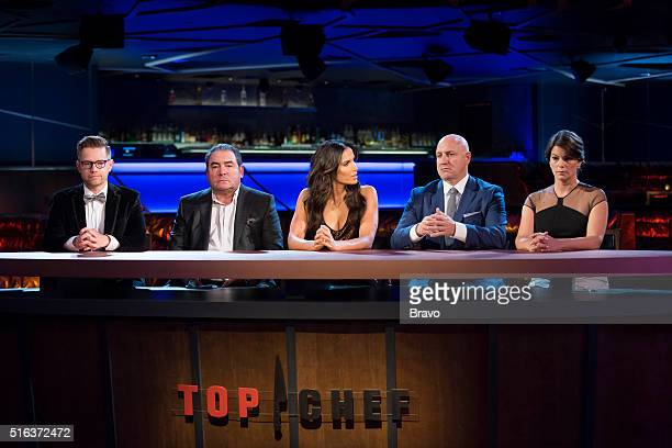TOP CHEF 'Finale' Episode 1315 Pictured Richard Blais Emeril Lagasse Padma Lakshmi Tom Colicchio Gail Simmons