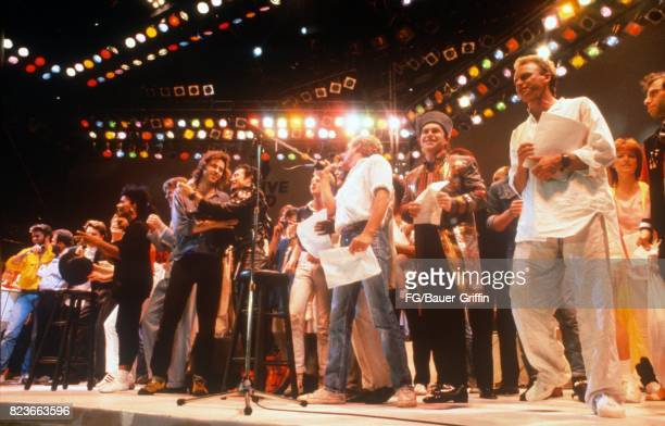 Finale of Live Aid on July 13 1985 in London United Kingdom 170612F1