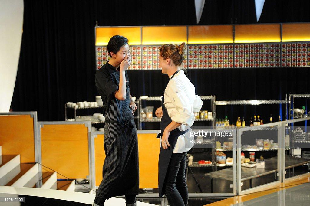 TOP CHEF -- 'Finale Part 2' Episode 1017 -- Pictured: (l-r) Winner Kristen Kish, runner-up Brooke Williamson --