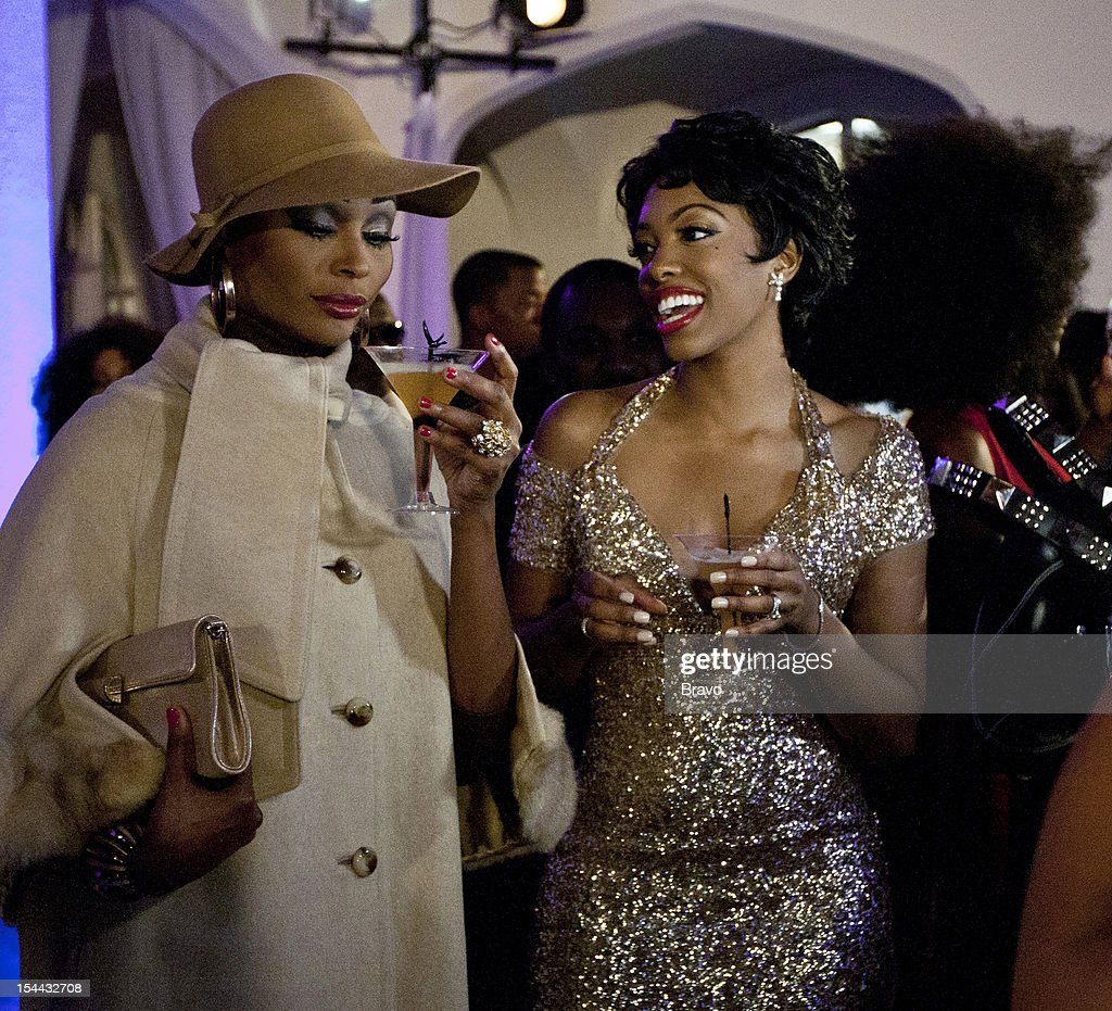 ATLANTA --'Finale Party' --Pictured: (l-r) Cynthia Bailey as Diana Ross, Porsha Stewart as Dorothy Dandridge --