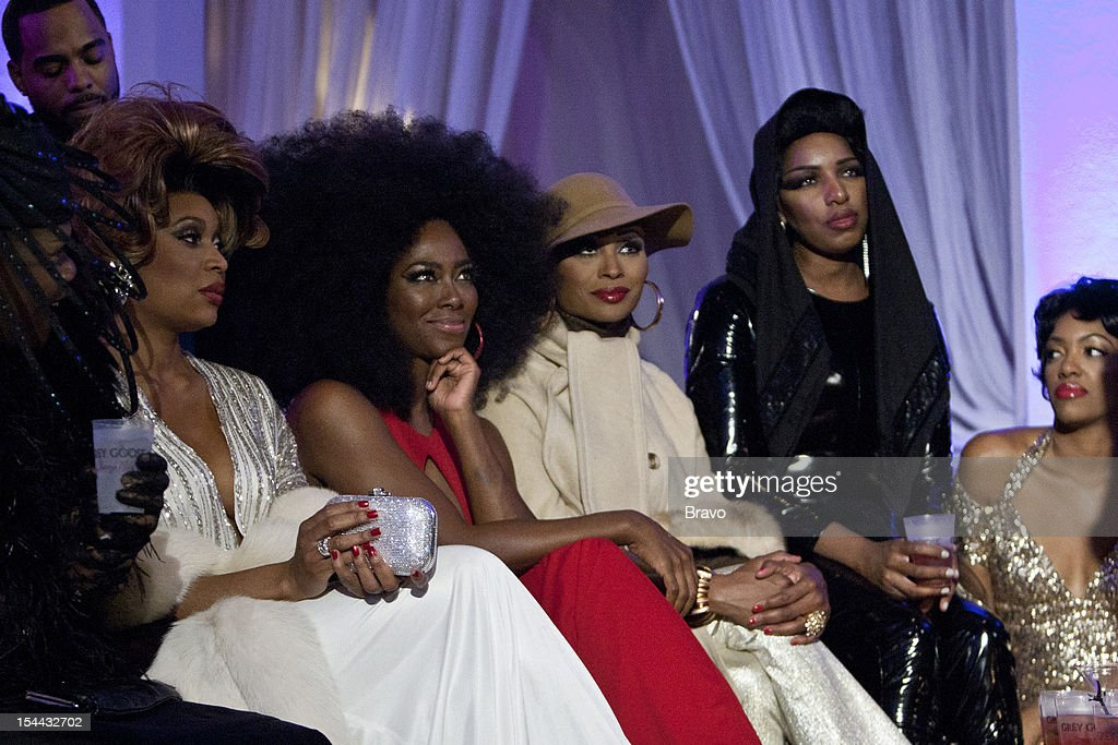 ATLANTA --'Finale Party' --Pictured: (l-r) Kenya Moore, Cynthia Bailey as Diana Ross, NeNe Leakes as Grace Slick, Porsha Stewart as Dorothy Dandridge --