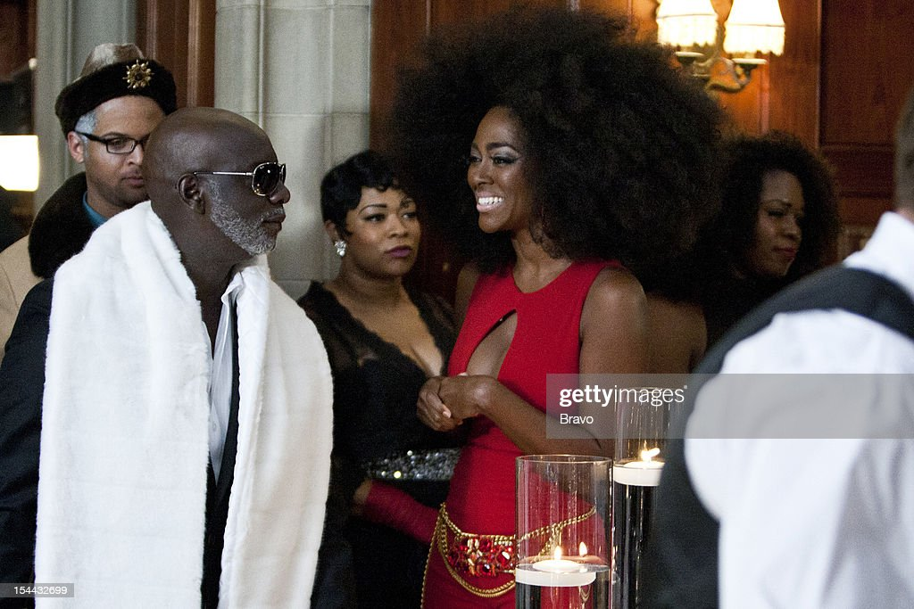 ATLANTA --'Finale Party' --Pictured: (l-r) Peter Thomas as Billy Dee Williams, Kenya Moore as Diana Ross --