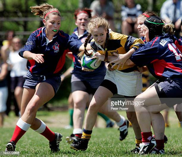 Images from the OFSSAA girls rugby final played in Burlington on Wednesday in which T A Stewart from Peterborough defeated Lawrence Park Collegiate...