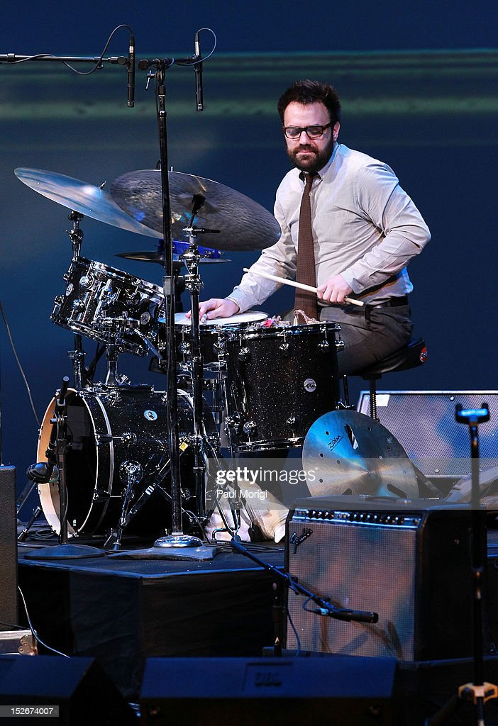 Finalist Colin Stranahan performs at the Thelonious Monk International Jazz Drums Competition and Gala Concert at The Kennedy Center on September 23, 2012 in Washington, DC.