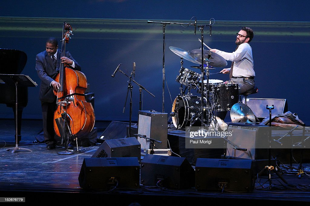 Finalist Colin Stranahan (R) performs at the Thelonious Monk International Jazz Drums Competition and Gala Concert at The Kennedy Center on September 23, 2012 in Washington, DC.
