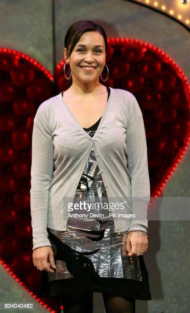 Finalist Divina Sarkany from Sweden's reality TV show 'West End Star' poses for media during a photocall at the Palace Theatre London