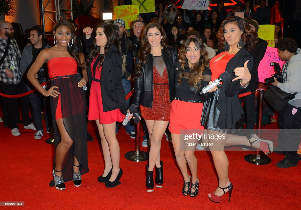 Finalist Fifth Harmony arrive at Fox's 'The X Factor' Season Finale Night 1 at CBS Television City on December 19, 2012 in Los Angeles, California.