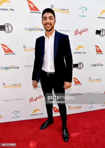 HLS finalist Hunter PageLochard attends the 9th Annual Australians In Film Heath Ledger Scholarship Dinner at Sunset Marquis Hotel on June 1 2017 in...