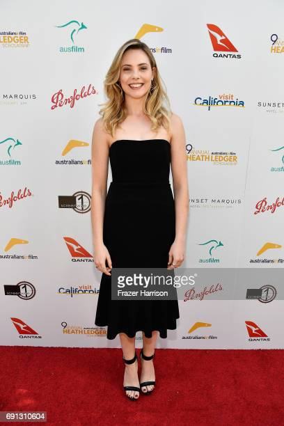 HLS finalist Morgan Griffin attends the 9th Annual Australians In Film Heath Ledger Scholarship Dinner at Sunset Marquis Hotel on June 1 2017 in West...