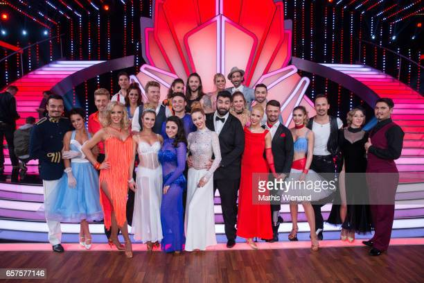 Finalist of the second Show after the 2nd show of the tenth season of the television competition 'Let's Dance' on March 24 2017 in Cologne Germany