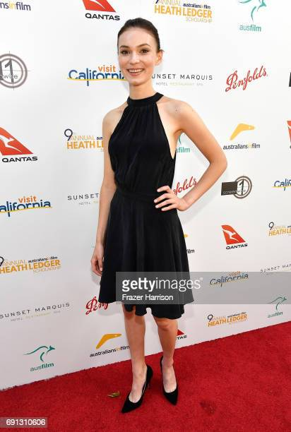 HLS finalist Tilda CobhamHervey attends the 9th Annual Australians In Film Heath Ledger Scholarship Dinner at Sunset Marquis Hotel on June 1 2017 in...