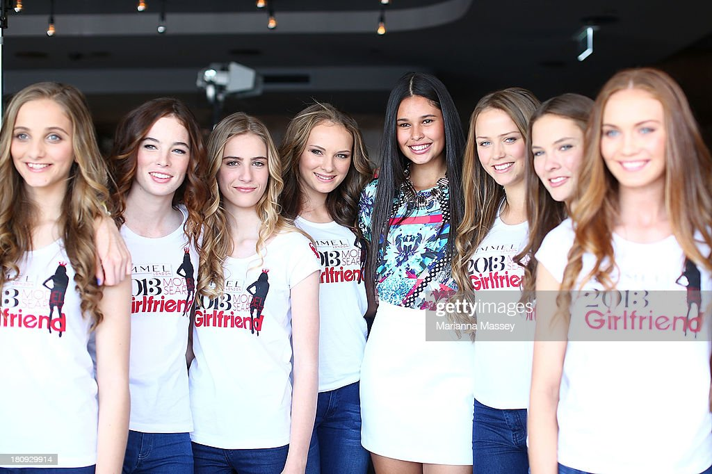 Finalists at the Girlfriend Rimmel Model Search winner announcement event on September 18, 2013 in Sydney, Australia.