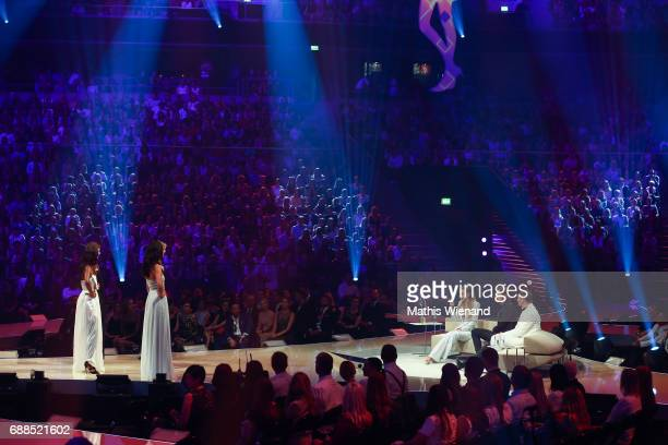 Finalists in Front of the Jury attend the Germany's Next Topmodel Final at KoenigPilsenerARENA on May 25 2017 in Oberhausen Germany