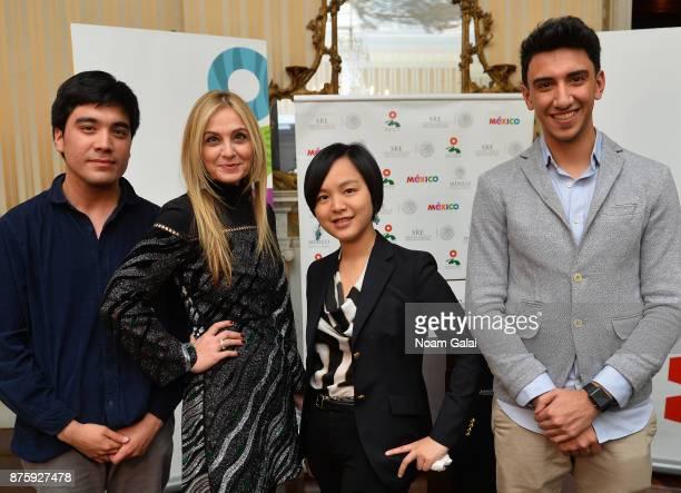 Finalists Roberto Pino Almeyda Ewing Luo Eisa Alhabib pose for a photo with Michal Grayevsky Predisent of JCS International during International Emmy...