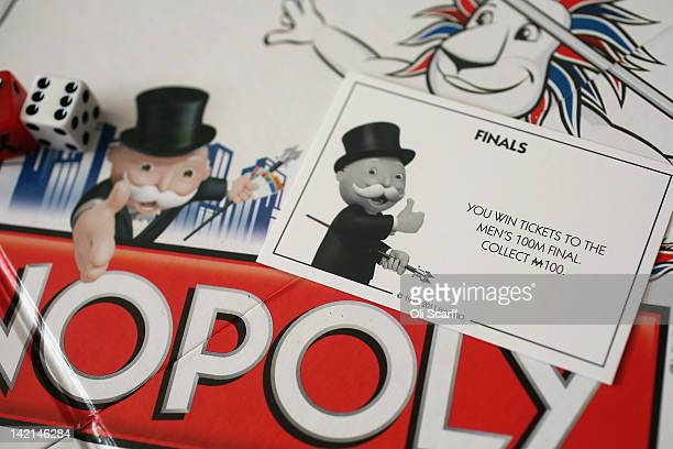 A 'Finals' card from a special edition London 2012 Olympic Games themed version of the Monopoly board game on March 29 2012 in London England