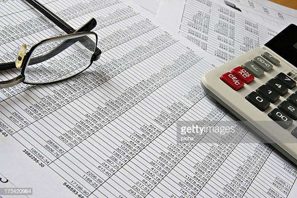 Finance analysis business sheets