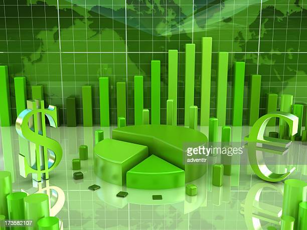 Finance concept with business diagrams