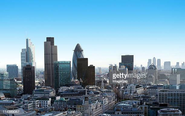 Finance in the City of London and Canary Wharf