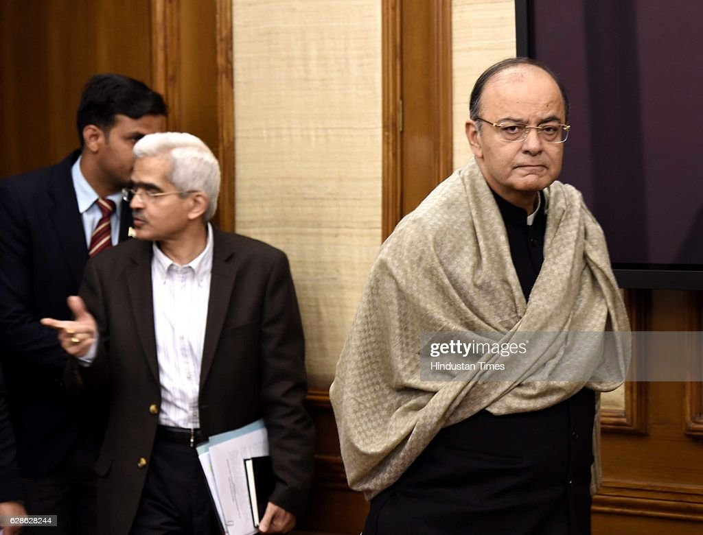 Finance Minister Arun Jaitley during his press conference on December 8, 2016 in New Delhi, India. A month after Rs. 500 and Rs. 1000 notes were demonetised, Union Finance Minister Arun Jaitley announced a slew of measures to promote the use of digital payments.