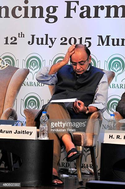 Finance Minister Arun Jaitley during the launch of the 'Rural Economy Tracking Service' of National Bank for Agriculture and Rural Development and to...