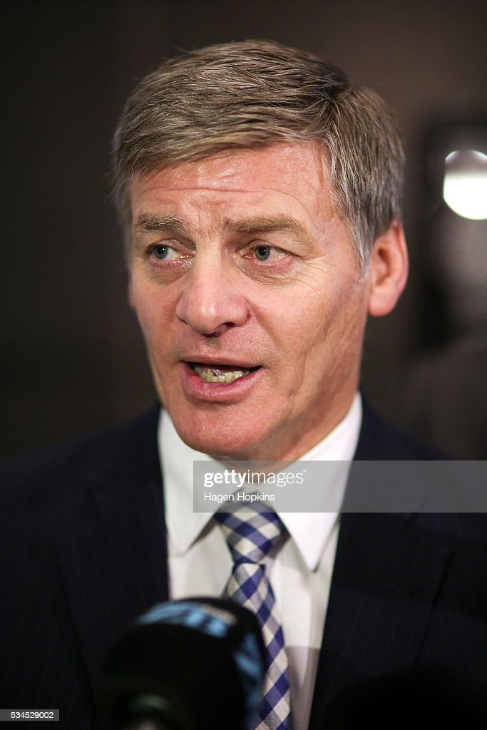 Finance Minister Bill English speaks to media during a post-budget breakfast at Te Papa on May 27, 2016 in Wellington, New Zealand. The National party government yesterday delivered the budget, unveiling $761m in new spending for science and innovation, $2.2b investment in new health initiatives, along with investments in housing for Auckland and an increase in tobacco tax.