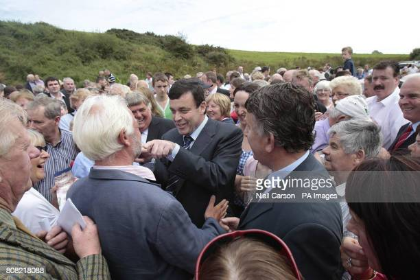 Finance Minister Brian Lenihan attends annual Beal na mBlath commemoration in Skibbereen Cork where Free State leader Micheal Collins was shot dead...