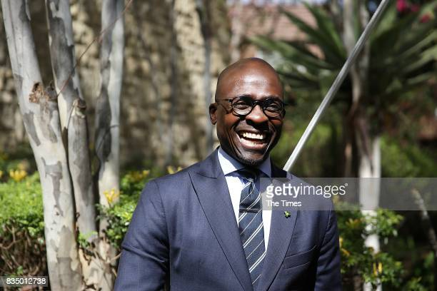 Finance Minister Malusi Gigaba during the launch of the bank at the African Regional Centre on August 17 2017 in Sandton South Africa The bank which...