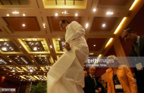 Finance Minister P Chidambaram at Grand Hyatt on Wednesday