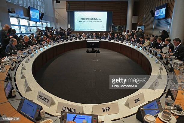 Finance ministers and representatives from around the world including World Bank Group President Jim Yong Kim International Monetary Fund Managing...