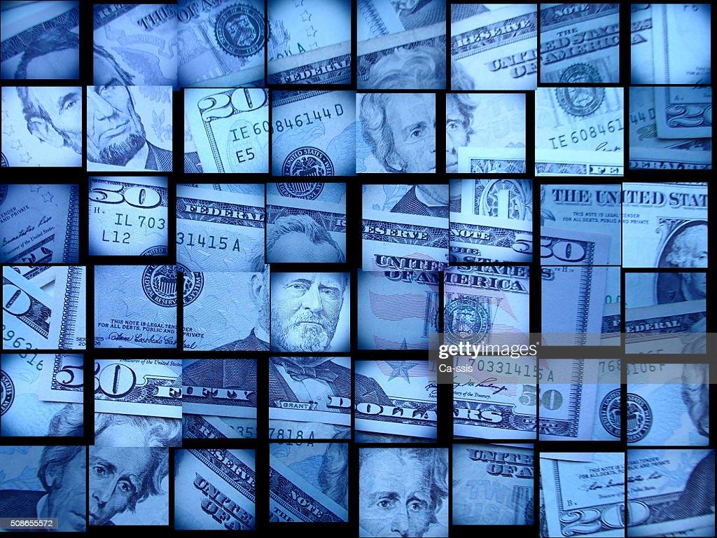 Finance USA dollars : Stock Photo