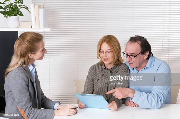 Financial Advisor and Mature Couple