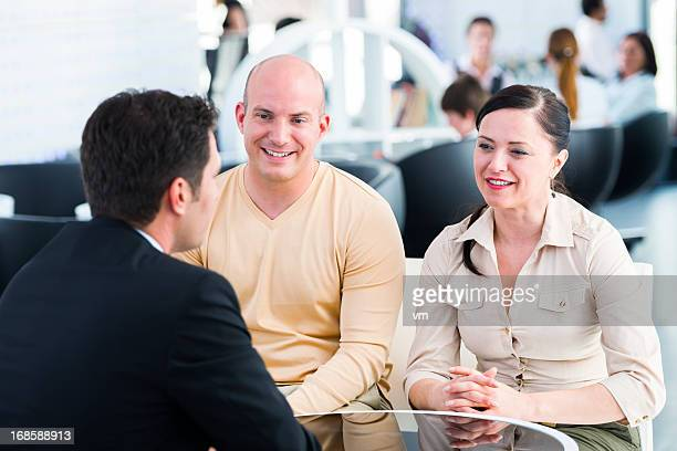 Financial Advisor Talking With His Clients