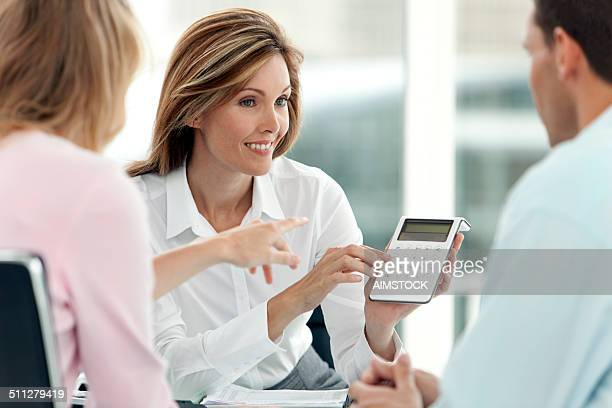 Financial Advisor with customers