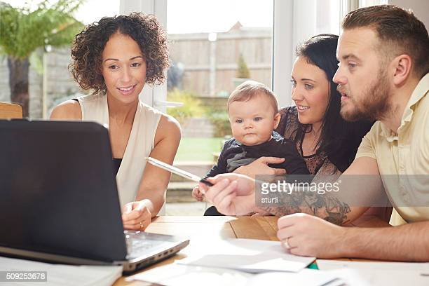 financial advisor with young family
