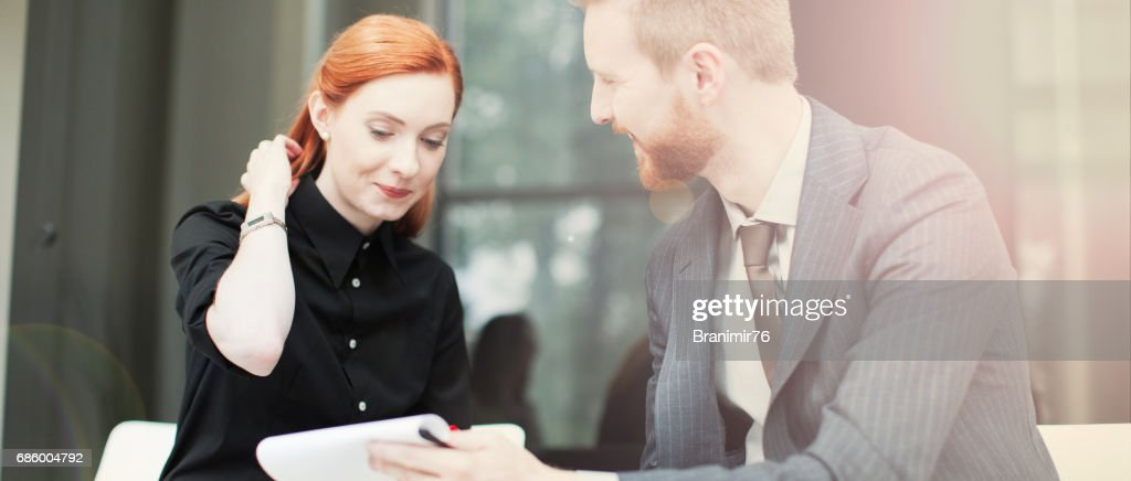 Financial advisor-meeting with customers : Stock Photo