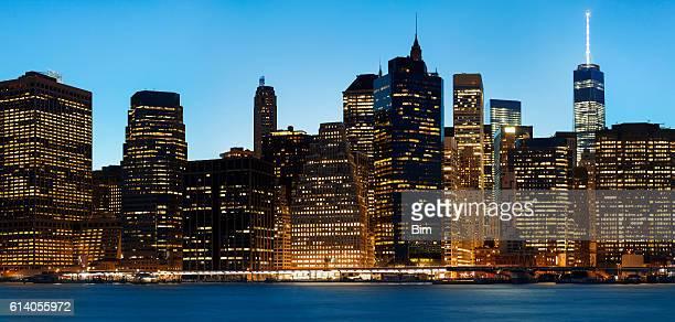 Finanziellen Gebäuden, Midtown Manhattan bei Sonnenuntergang, New York City