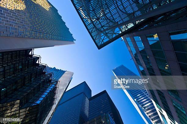 Financial center, Bay Street, Toronto, Canada