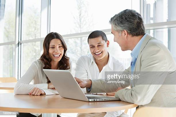 Financial Consultant Advising Couple