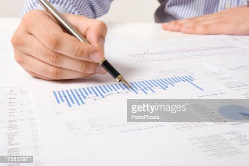 Financial Data Analysis Stock Photo | Getty Images