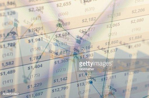 Financial data : Stock Photo